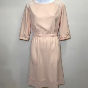 Blush dress with stretchy weist band